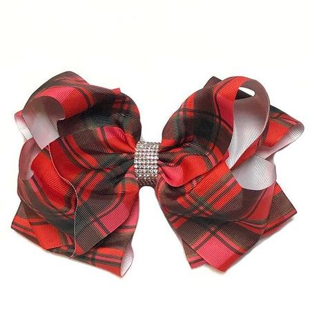 Plaid Double Layer Bow