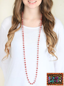 "60"" Peppermint Bead Necklace"