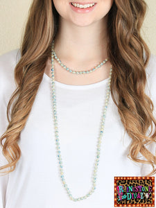 "60"" Seafoam Bead Necklace"