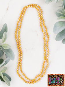 "60"" Mustard Bead Necklace"