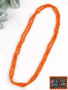 "60"" Orange Bead Necklace"