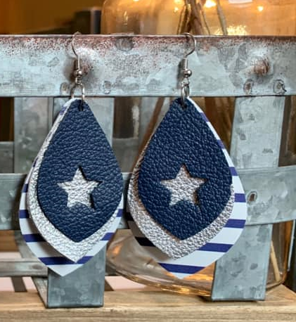 Cowboys Layered Earrings
