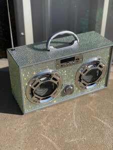 Mini Iridescent Bling Boom Box