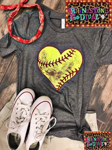 Softball Heart Tee
