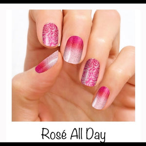Rose All Day 100% Nail Polish Strips