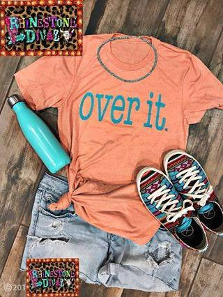 Coral Over It Tee