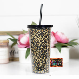 Brown Leopard Tumbler