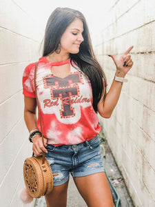 Texas Tech Bleached tee