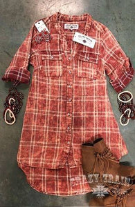 Red Patsy Plaid Tunic