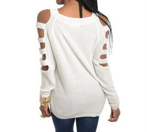 White Split Sleeve Top