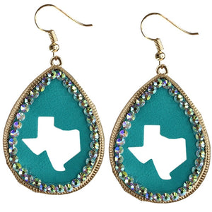 Turquoise Texas Cut Out Earrings