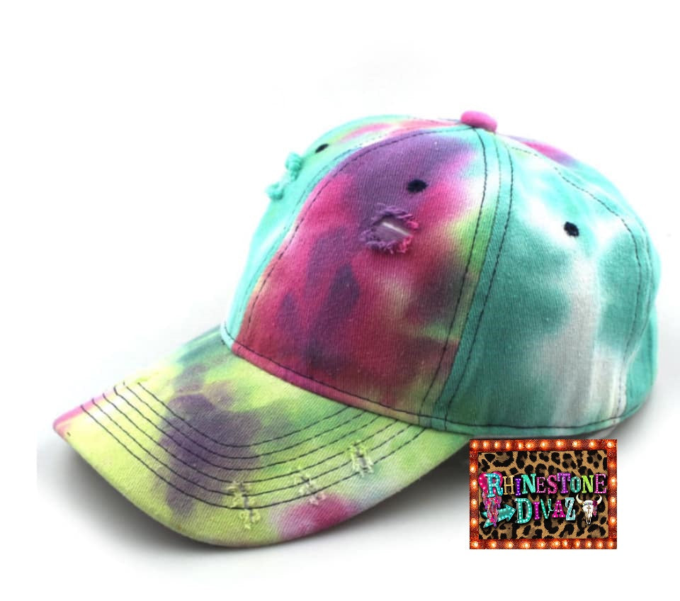 Distressed Tye Dye Hat