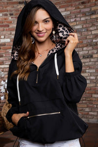 Black Leopard Windbreaker