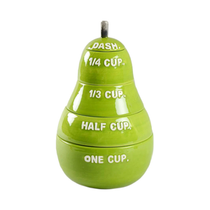 Rae Dunn Classic Green Pear Measuring Cups