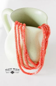 Coral Loopty Loo Necklace