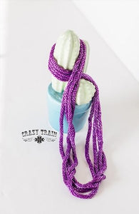Purple Loopty Loo Necklace