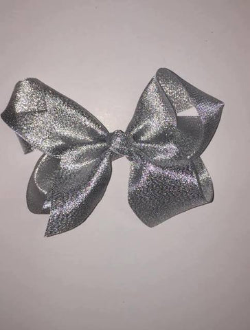 "4"" Silver Single Layer Bow"