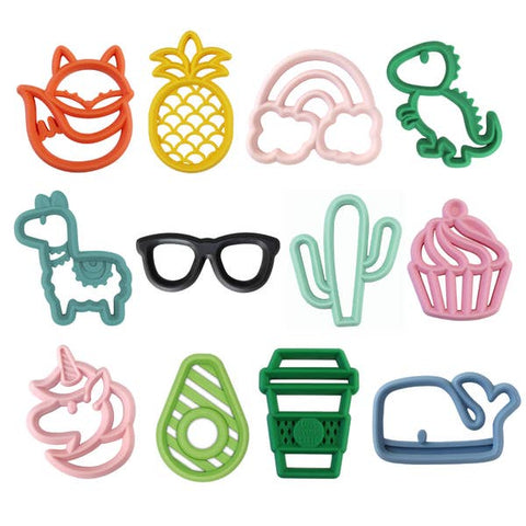 PREORDER Chew Crew™ Silicone Baby Teethers