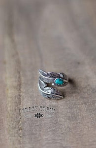 Turquoise Wild Feather Ring