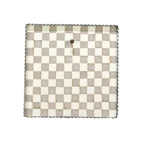 Tan & White Checkered Art Display