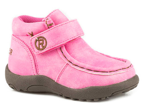 Infant Pink COWBABIES CHUKKA W/FAUX LEATHER