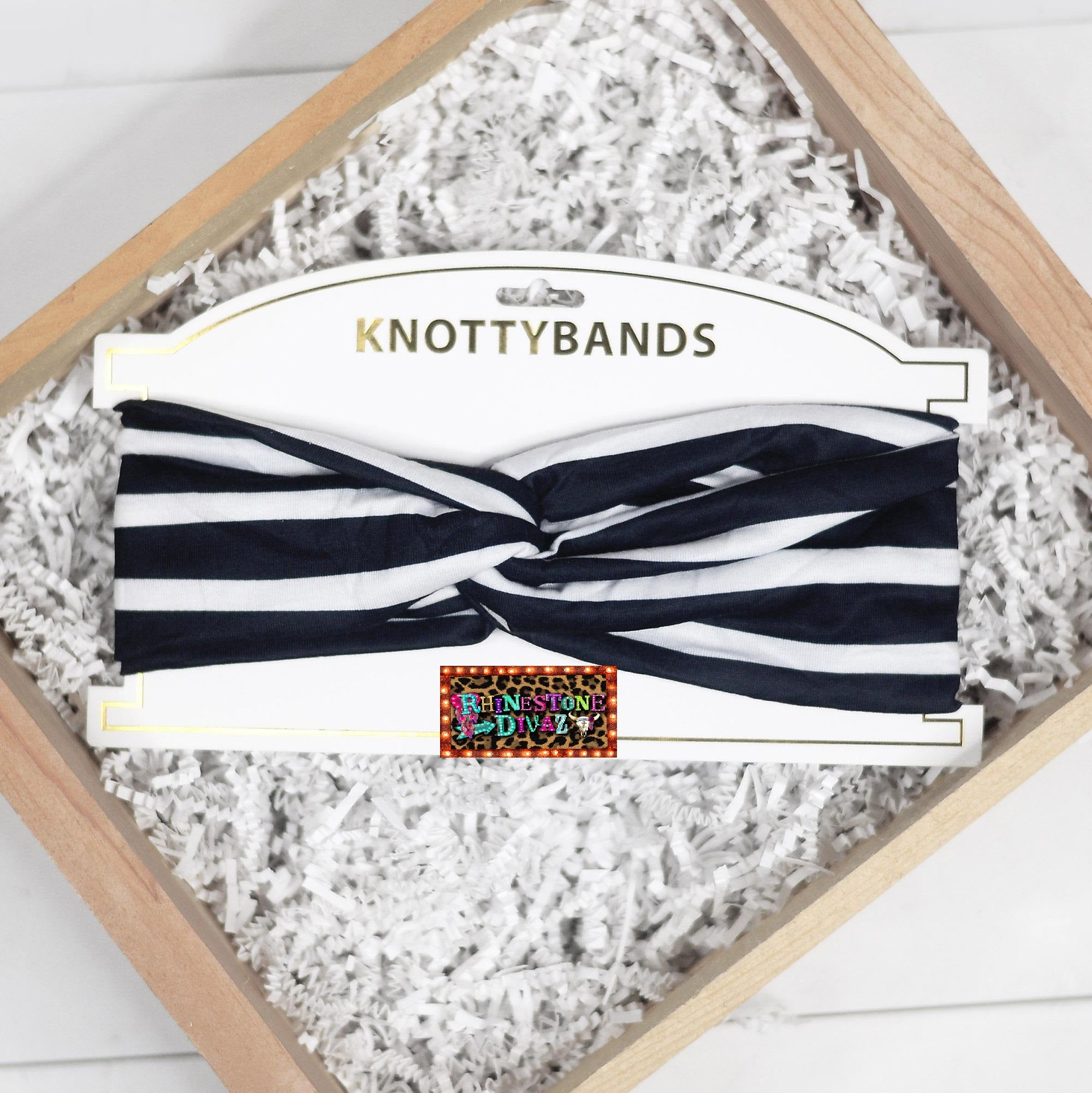 Black & White Stripe Knotty Band