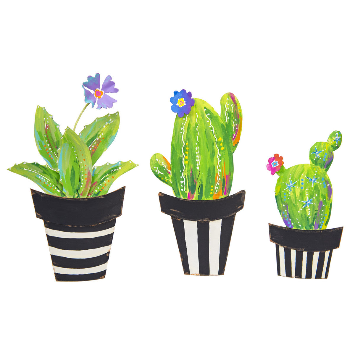 Cacti In Flower Pot Set
