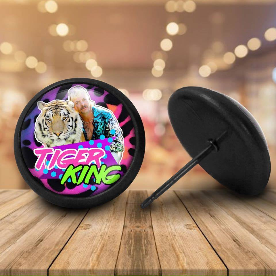 Tiger King Earring Studs