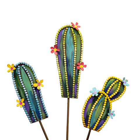 Mini Cacti Stake 3pc Set