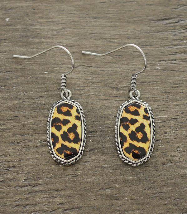 Mini Leopard Kendra Earrings
