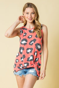 Coral Leopard Knot Tank