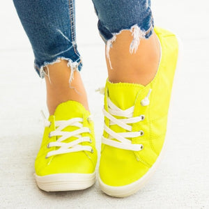 Neon Yellow Comfort Shoe