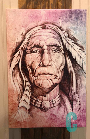 16 X 24 Indian Canvas