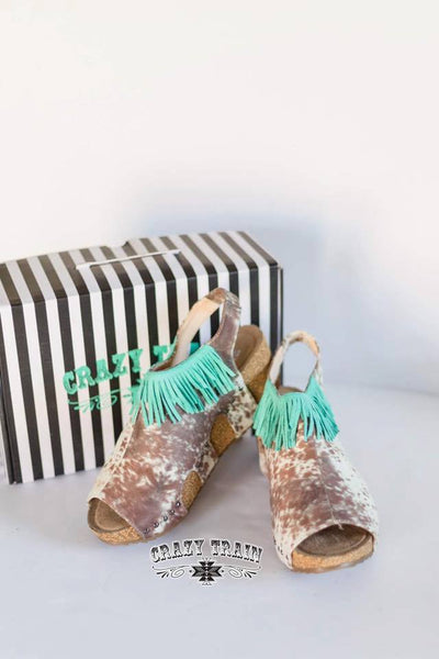 Cowhide Fringe Wedge