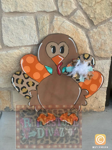 Funky Turkey Door Hanger