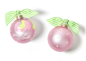 Girl Baby's First Christmas Ornament