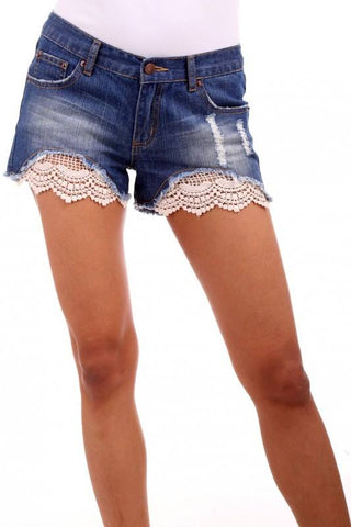 0005 Arched Crochet Shorts
