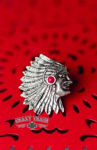 Red Concho Indian Ring