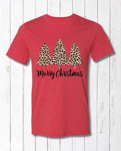 Leopard Tree Christmas Tee