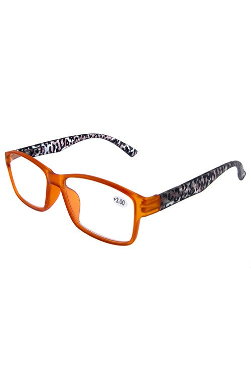 Orange Framed Leopard Glasses