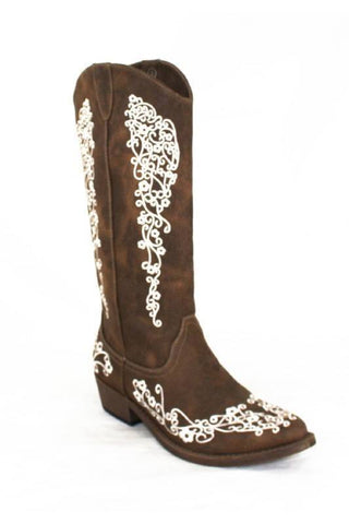 Embroidered Cowgirl Boot