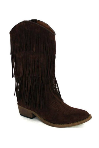 Brown Fringe Cowgirl Boot