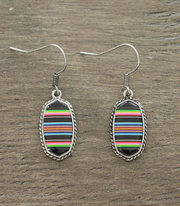 Mini Black Serape Kendra Earrings
