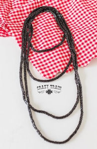 Black Loopty Loo Necklace
