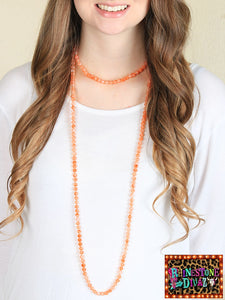 "60"" Bright Orange Bead Necklace"