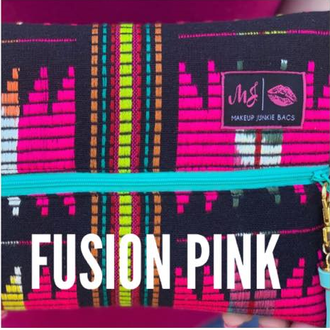 LARGE Fusion Pink Makeup Junkie Bag