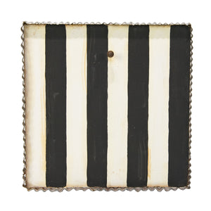 Black & White Stripe Art Display