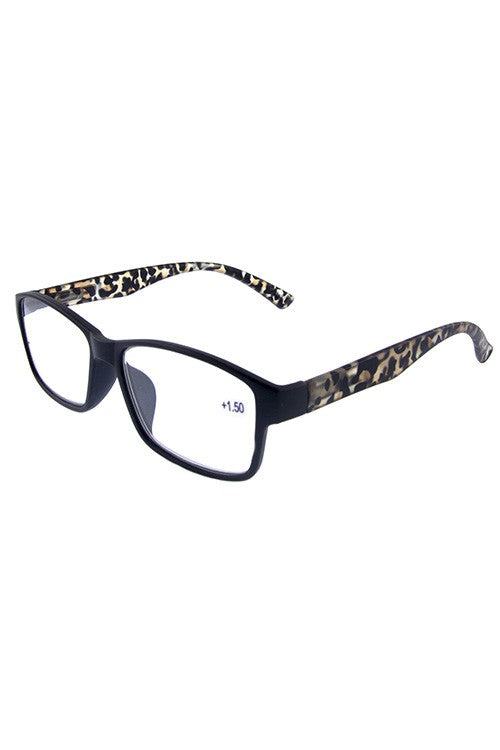 Black Framed Leopard Readers