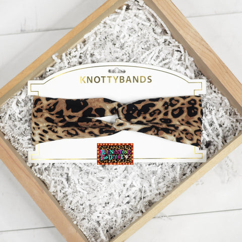 Brown Leopard SMALL Spot Knotty Head Bands