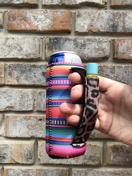Tall Can Koozie With Handle